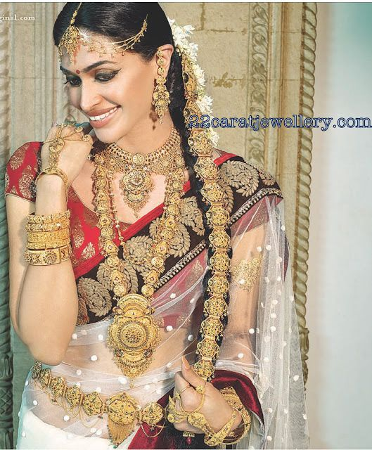 South Indian Actresses in Traditional Bridal Jewellery | Jewellery Designs