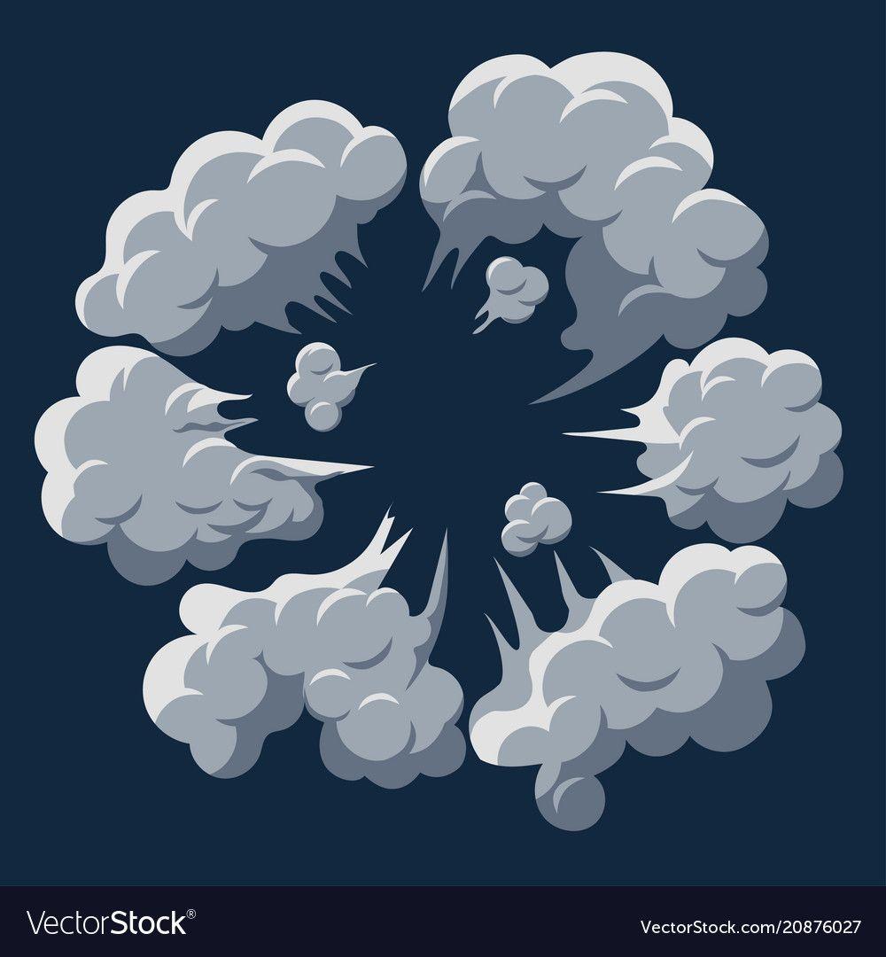 Smoke Cloud Explosion Dust Puff Cartoon Frame Vector Image Aff Explosion Dust Smoke Cloud Ad Cartoon Smoke Smoke Cloud Smoke Vector