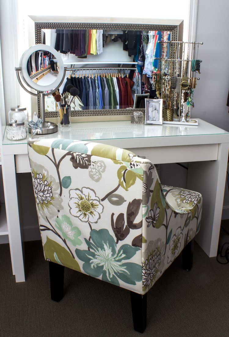 Convert an IKEA dressing table into a makeup vanity