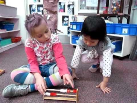 ▶ Students making up number stories with Rekenrek