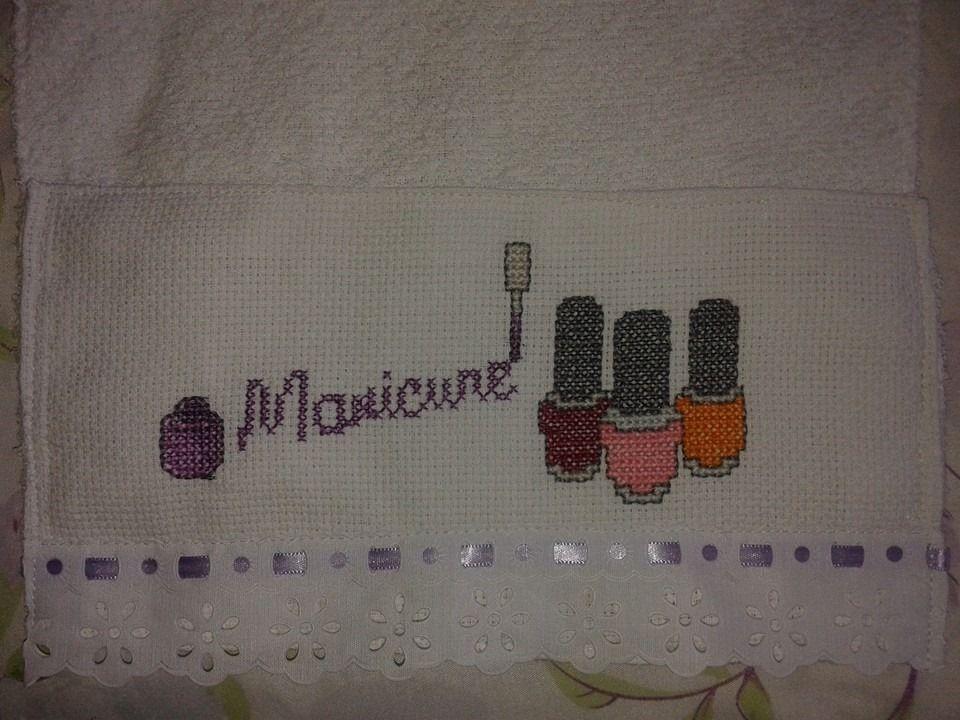 Toalinha de mão para manicure