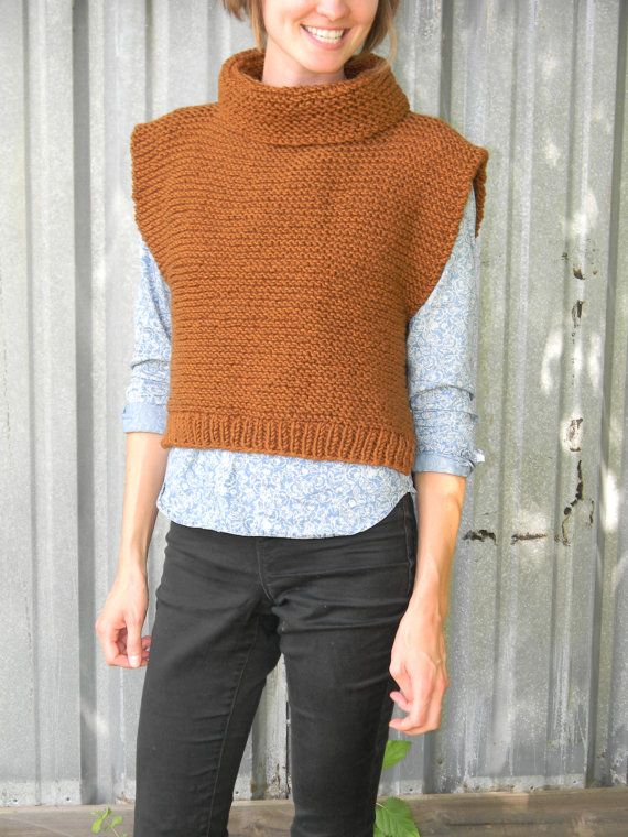 Knitting Pattern Como Vest Diy Easy Knit By Ladyjaycrochet Benim