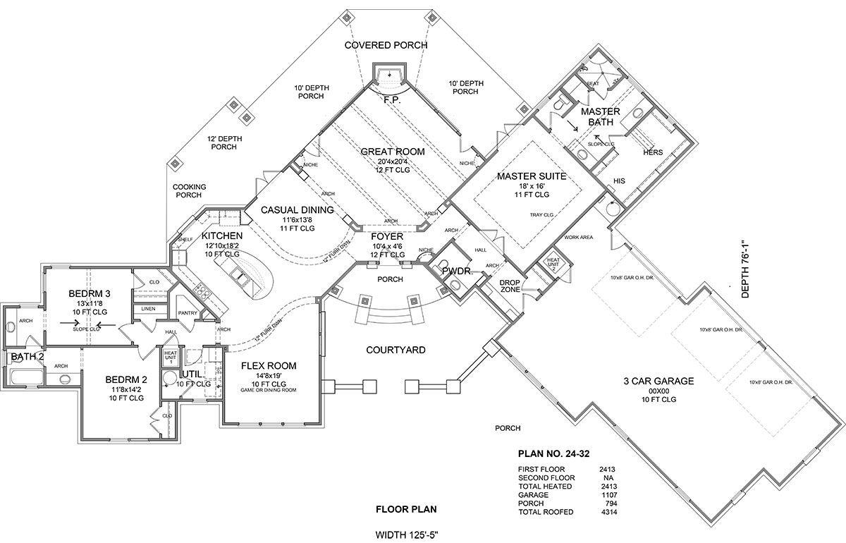 Turn garage into master bedroom  Floor Plan image of Featured House Plan BHG    Floorplans