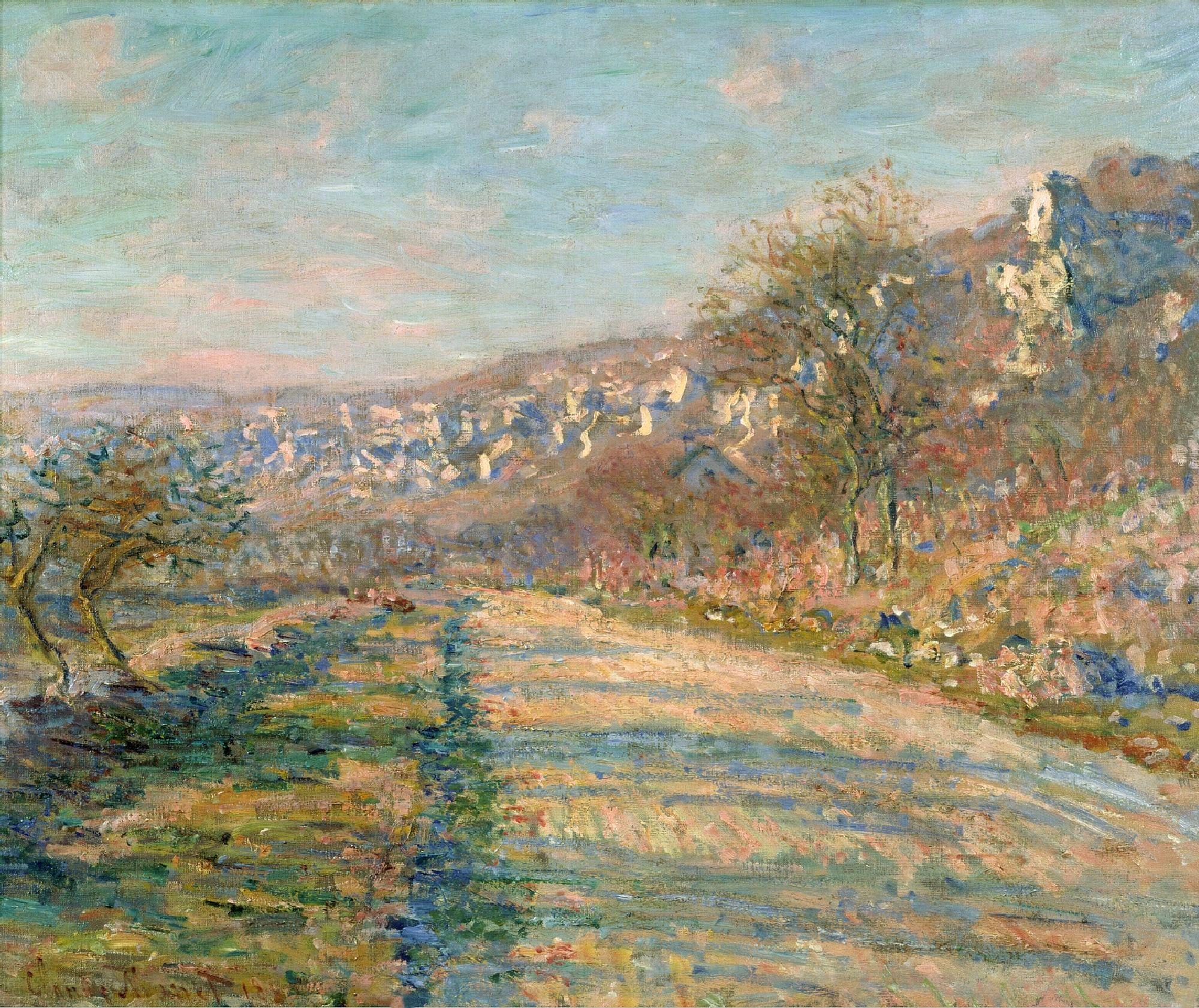 Road of La Roche-Guyon by @claude_monet #impressionism