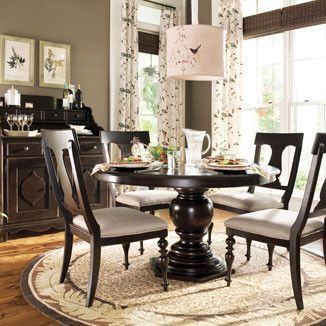 Paula Deen Round Pedestal Table Tobacco Finish Pedestal Dining Table Round Pedestal Dining Table Round Dining Room