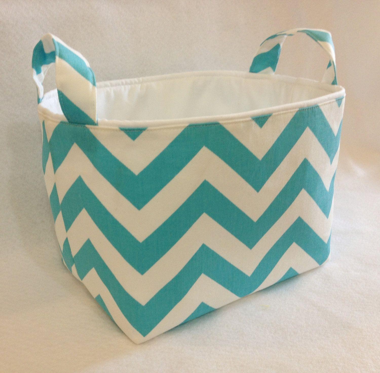 Fabric Bin Fabric Storage Bin Fabric Organizer Basket Chevron Zig Zag Aqua Blue/White. $20.00 via Etsy. & Fabric Bin Fabric Storage Bin Fabric Organizer Basket Chevron Zig ...