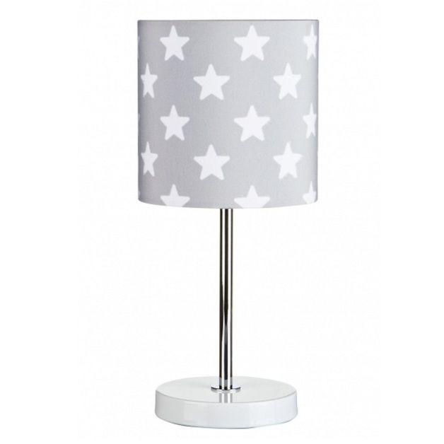 Stehlampen ♥ Nachttischlampe Sterne grau ein