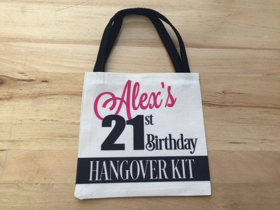 Hangover Kit 21st Birthday Party Favor By RightOnTheWalls On Etsy