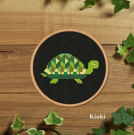 Cross stitch pattern Little Turtle Instant Download by TinyNeedle