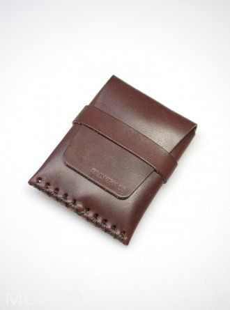 Billy Kirk Brown Leather Card Case