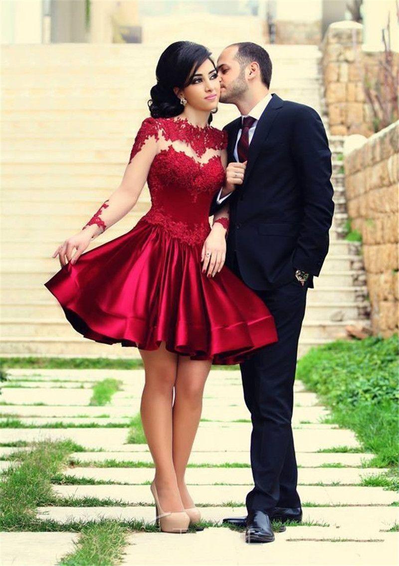 Cocktail dress robe de soiree courtefull sleeve formal dresses