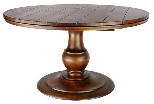 501 54 Inch Round Pedestal Dining Table With 3 12 Inch Leaves