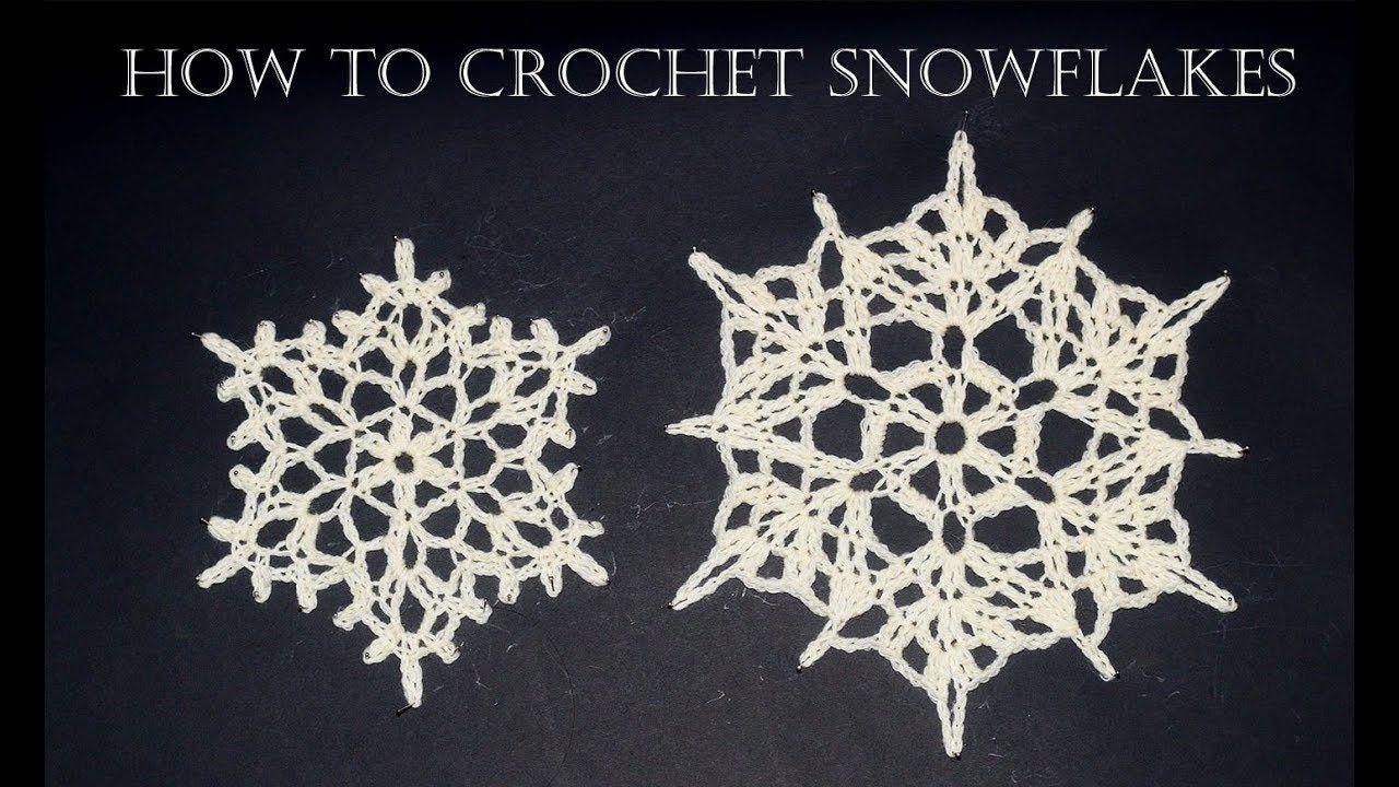 How To Crochet Snowflakes Easy Tutorial Crochet Snowflakes Crochet Snowflake Pattern Crochet Christmas Snowflakes