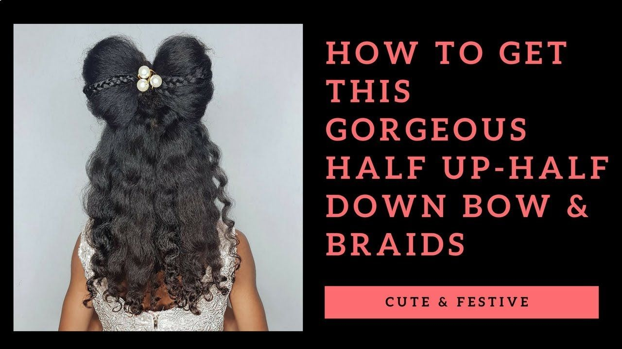 Cute bow u braids hairstyle for little girls youtube baps