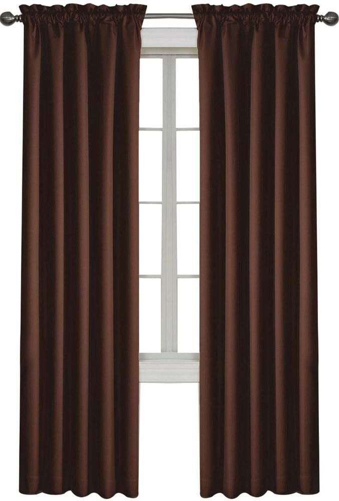 NEW Double Lined Blackout Cypress 54 X 63 Curtain Panel Chocolate Brown SLichtenbergCo