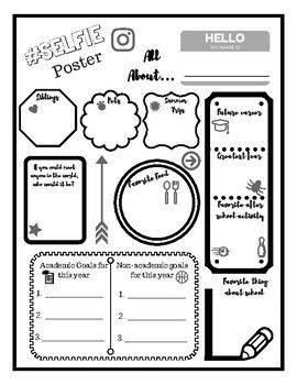 SELFIE Poster: Get to know you worksheet | School worksheets ...