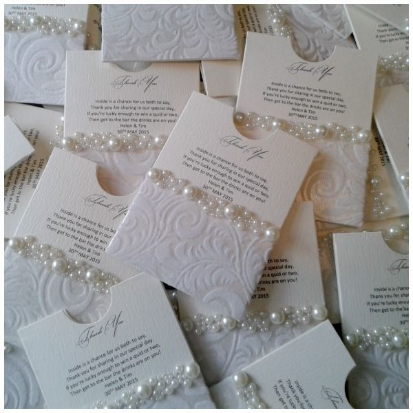 Crystal Couture Wedding Invitations: Lottery Ticket Favors « Crystal Couture Luxury Wedding