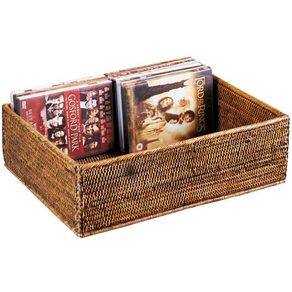 Oka Rattan Cd Dvd Storage Box 84 Liked On Polyvore