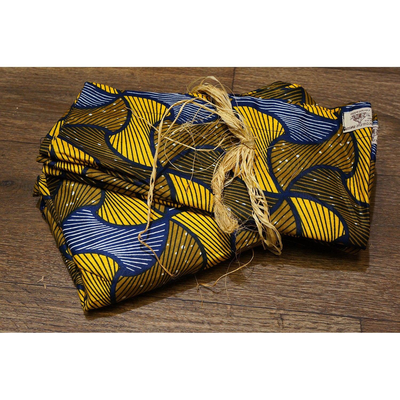 Housse De Couette Africaine En Wax Dore Et Bleu Housse De Couette Couette Housses