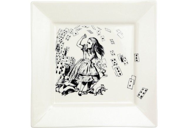 Alice in Wonderland Serving Plate  sc 1 st  Pinterest & Alice in Wonderland Serving Plate   Chic Geek   Pinterest   Serving ...