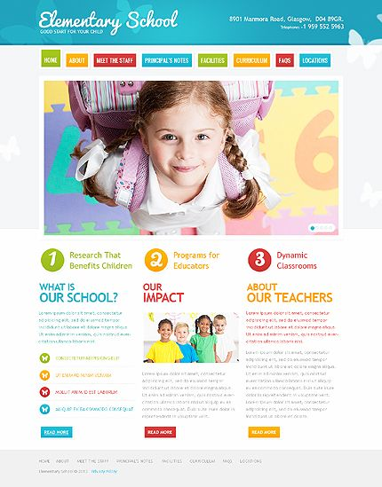 This is an Elementary School Website. I do like the colors on the ...