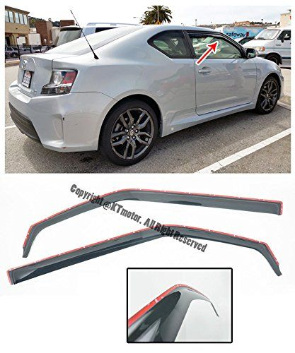 Amazon Com For 11 Up Scion Tc Gen 2 Jdm In Channel Style Smoke Tinted Jdm Side Window Visors Rain Guard Deflectors 2011 2012 2013 2 Scion Tc Jdm Window Vents