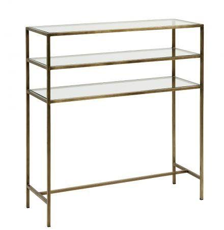 konsolbord Konsolbord i jern med glas   90x32   guld finish | bathing | Pinterest konsolbord