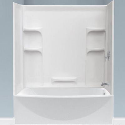 American Standard Ovation 60 In Left Drain Bathtub In