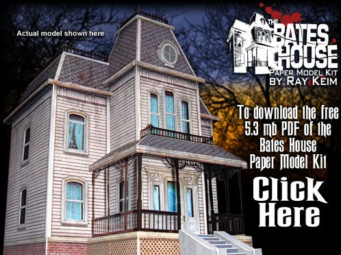 The Bates House Haunted Mansion Paper Model Kit by Ray Klein  Free
