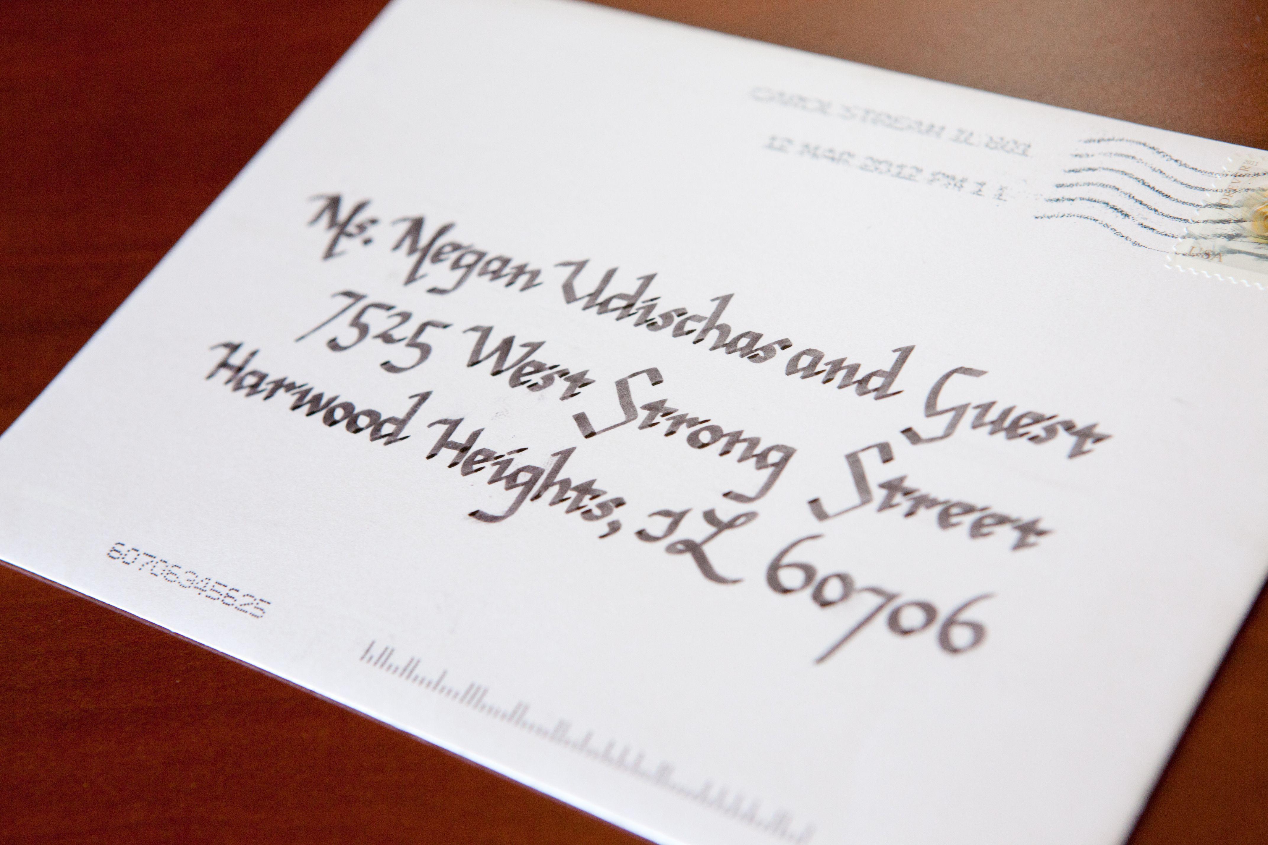 Wedding Envelopes Done By Me Using Chancery Cursive Script