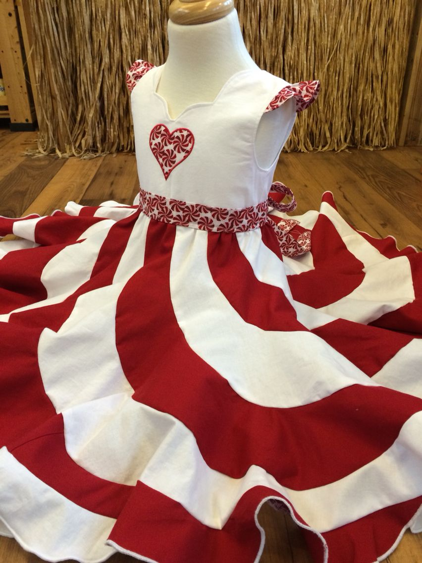 peppermint swirl dress with appliqué top | bubby's creations for