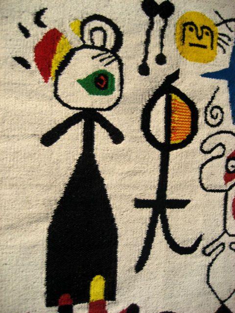 """Mid Century """"Miro"""" like rug."""