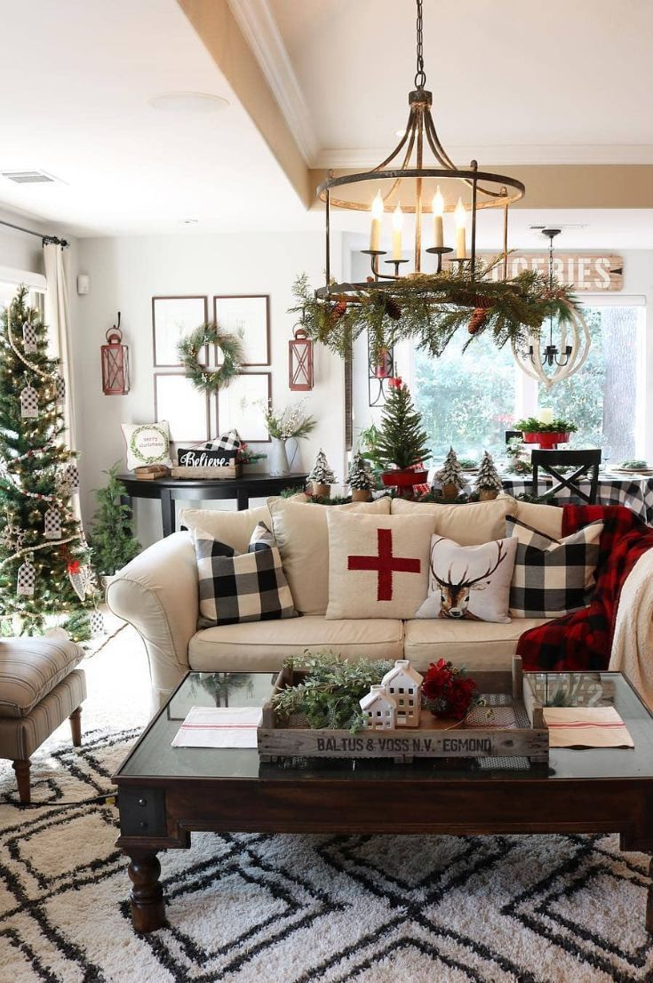 30 Free Best Ways To Decorate The Living Room For Christmas New 2020 Page 15 Of 29 My Blog In 2020 Farmhouse Christmas Decor Christmas Decorations Living Room Indoor Christmas Decorations