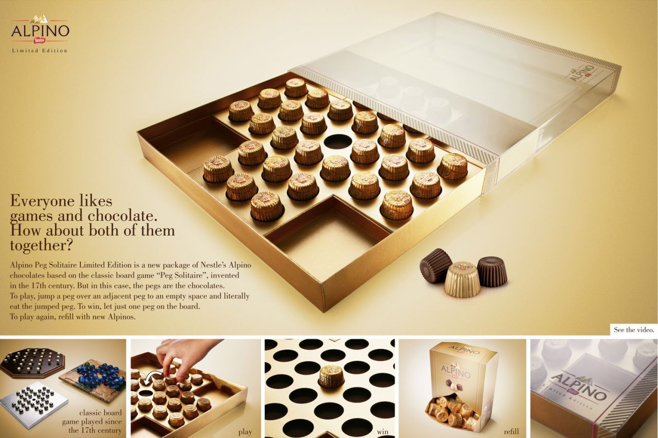 Alpino Peg solitaire Clever packaging, Classic board