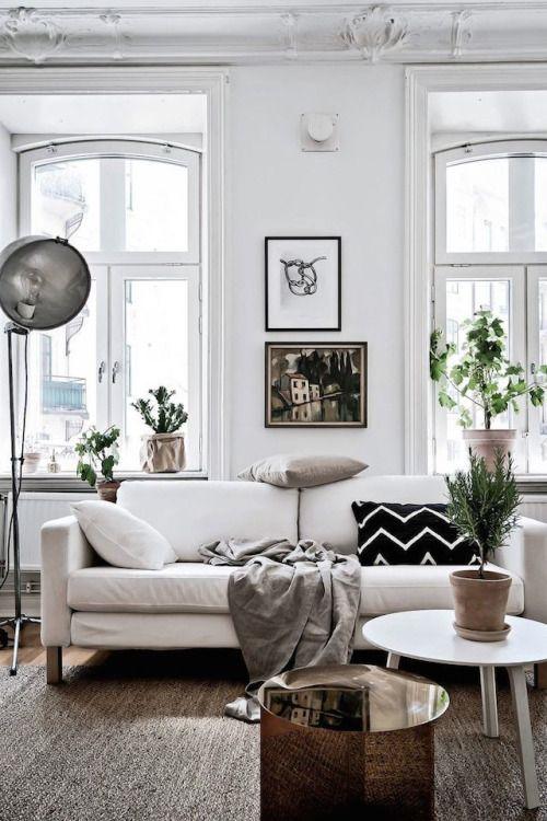 Weisses Sofa Wohnen Einrichtungsstil Wohnzimmer Inspiration