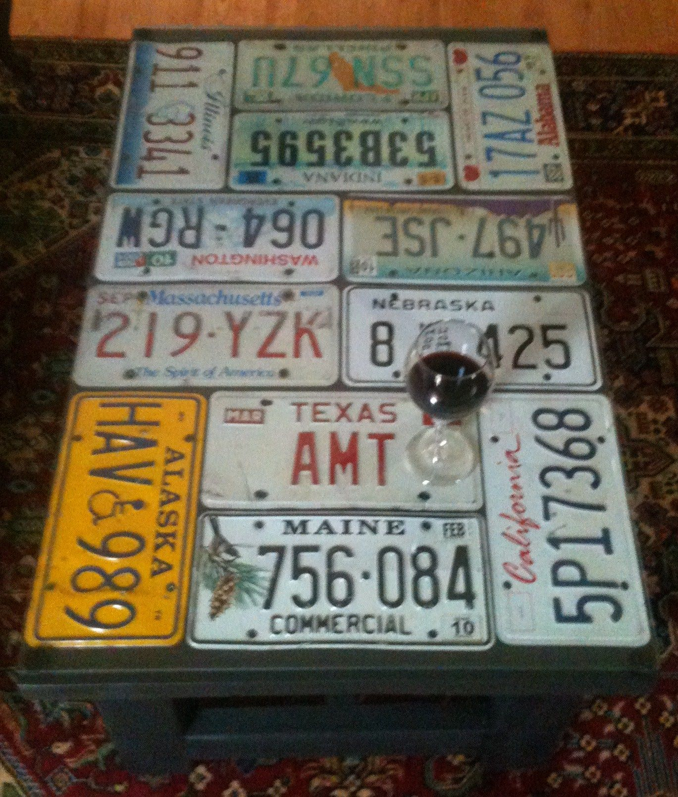 License plate coffee table & License plate coffee table | Painted Pieces | Pinterest | License ...