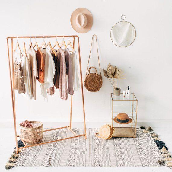 Copper Pipe A Frame Kleiderstange / Kleiderständer / Kleiderablage - Melo Dee-Dee - Dekoration #clothingracks
