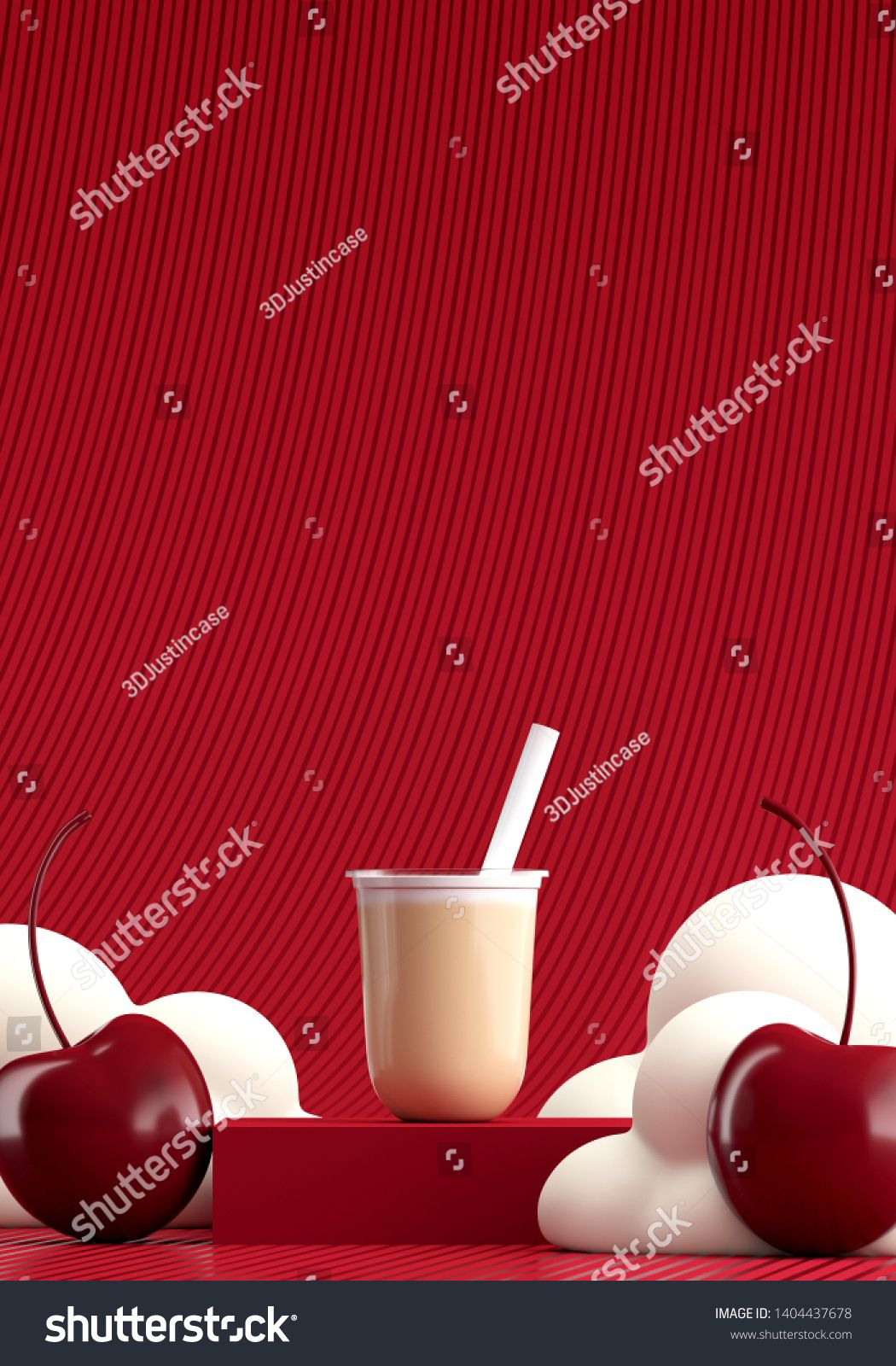 Minimal Beverage background for coffee tea smoothie drink