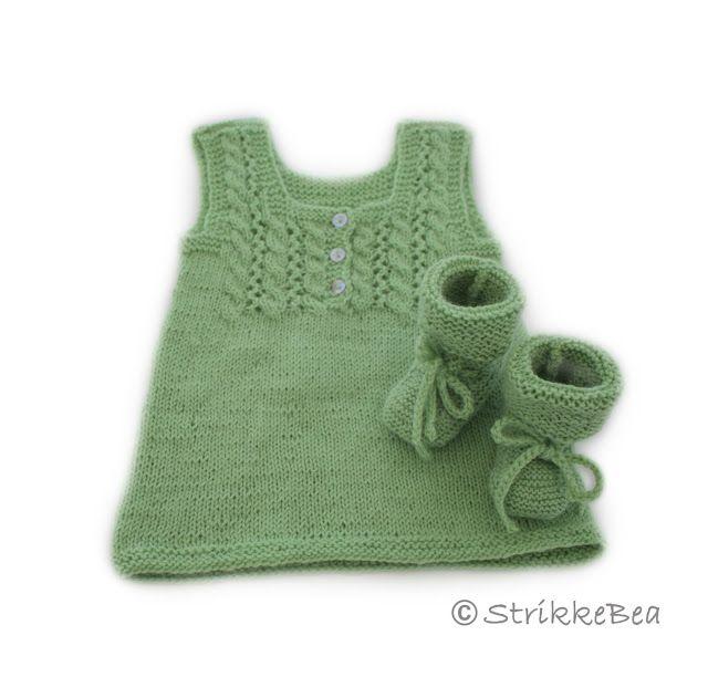 Varme strikkeplagg til nyfødt - StrikkeBea