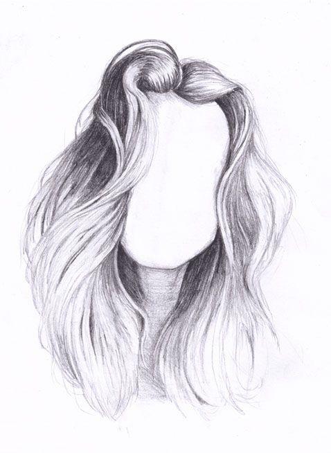 sketch | Hair sketch, How to draw hair, Cute girl drawing