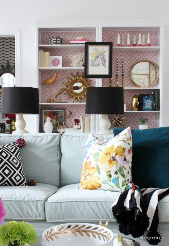Preppy Home Decor 7 Perfectly Preppy Eclectic Decorated Rooms Colourful Living Room Living Room Decor Eclectic Eclectic Living Room