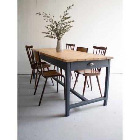 Table De Ferme à Personnes Table Ferme Grande Vintage - Table salle a manger scandinave occasion pour idees de deco de cuisine