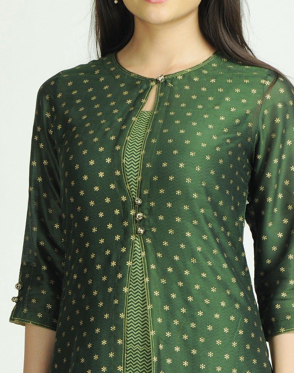 Fabindia.com | Silk Cotton Chanderi Printed 2 Piece Set ...