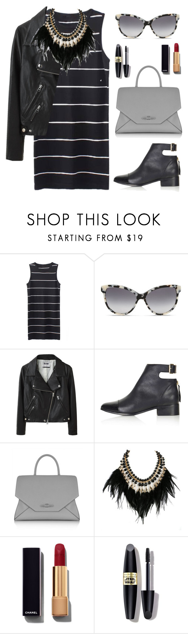 """""""Untitled #1751"""" by lauraafreedom ❤ liked on Polyvore featuring STELLA McCARTNEY, Acne Studios, Topshop, Givenchy, WithChic, Chanel and Max Factor"""