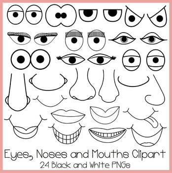 Eyes Noses And Mouths Clipart Mouth Clipart Eye Drawing Clip Art