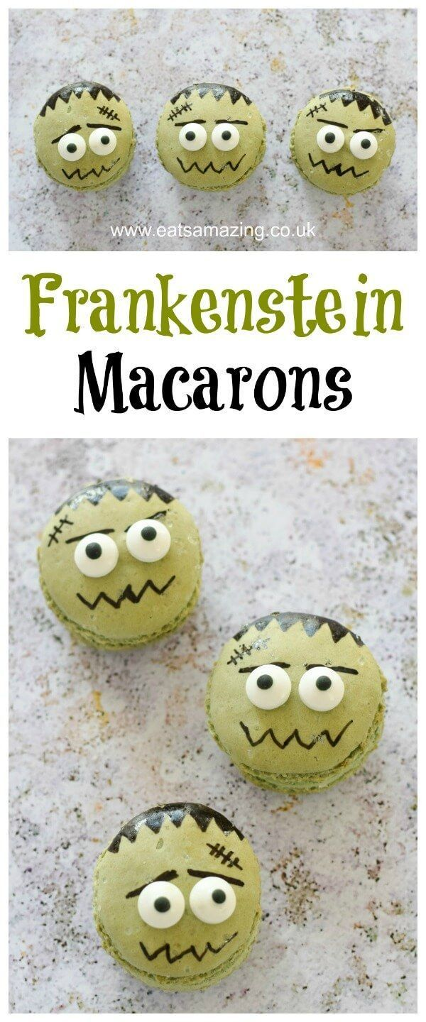 How to Make Frankenstein Macarons for Halloween