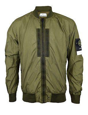 469d6e466 Stone Island Khaki Green Crinkle Reps NY Bomber Jacket BNWT   Men's ...