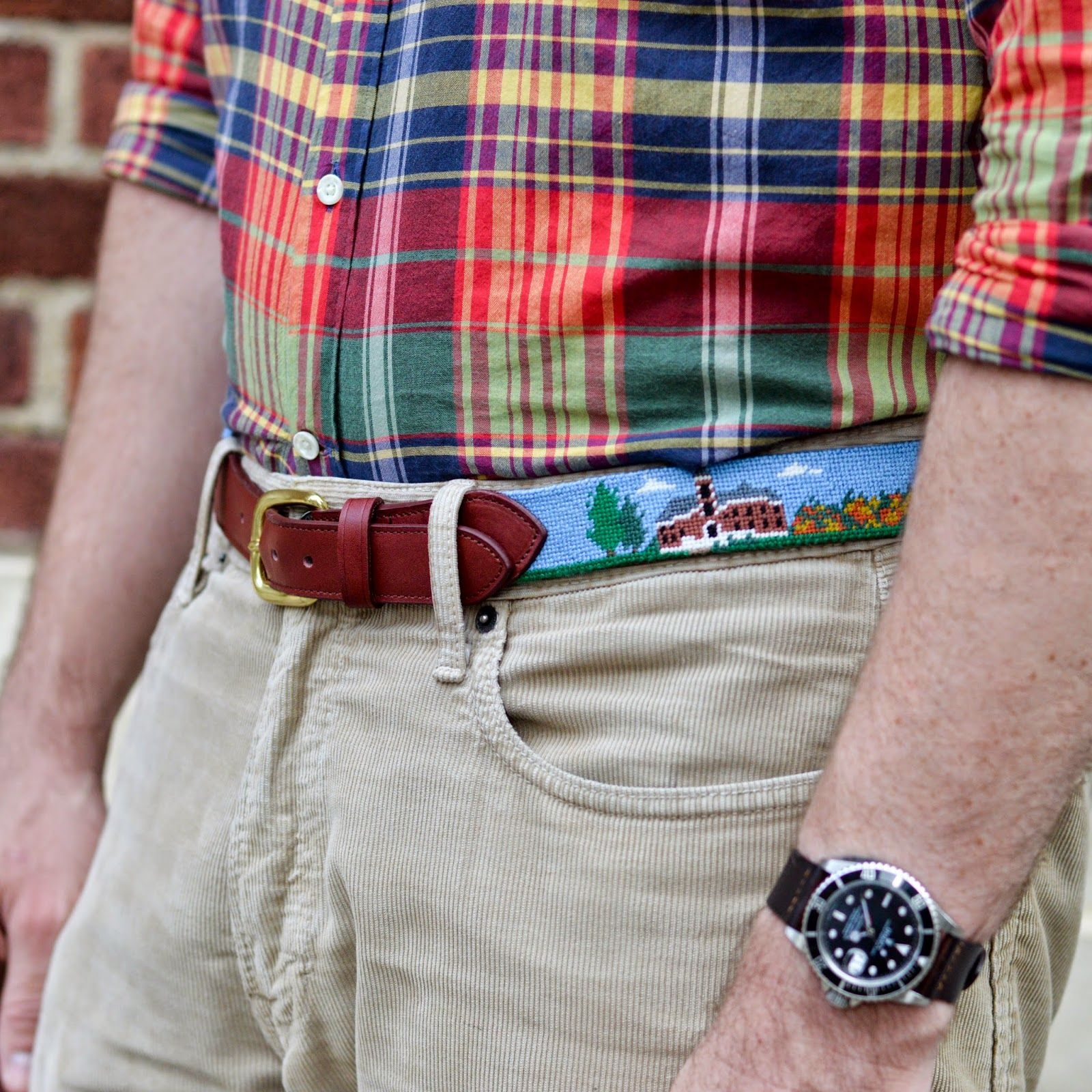 How to Needlepoint a Belt