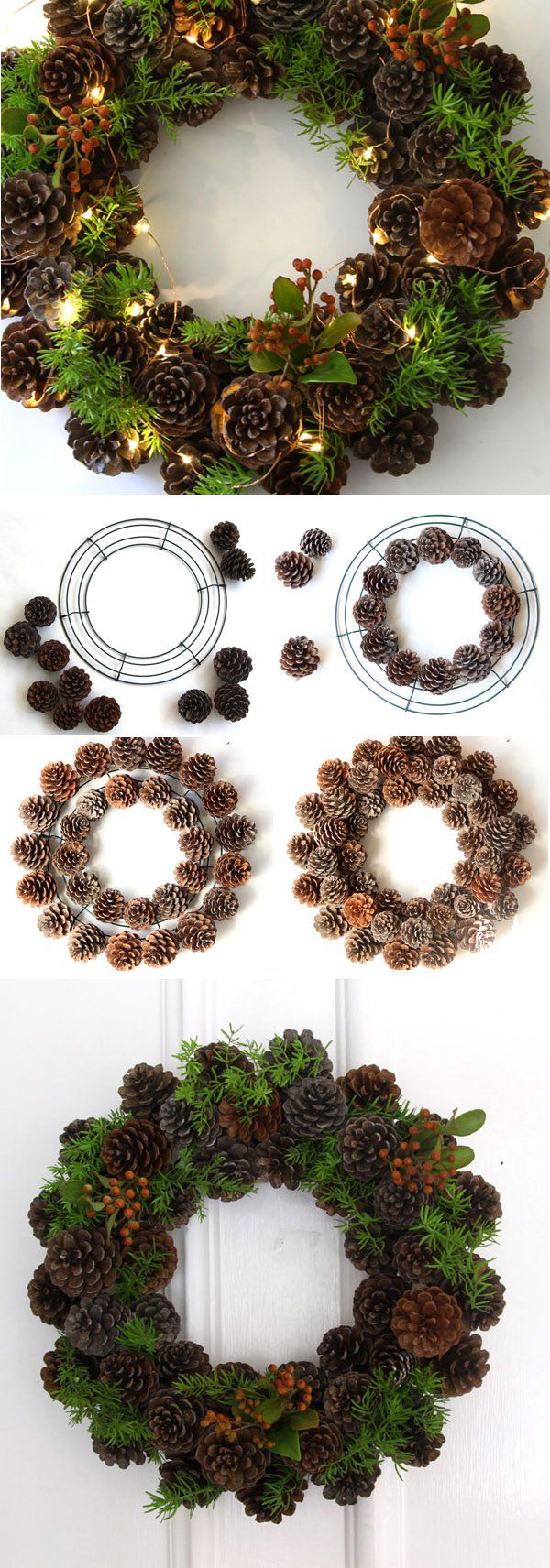 30+ wonderful diy christmas wreaths | pine cone, abundance and pine