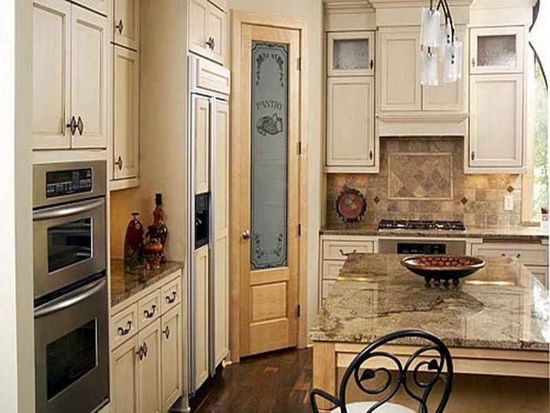 glass pantry door maple design interior - Kitchen Pantry Door Ideas